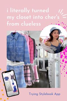 i took a picture of every clothing item I own so i could turn my closet into cher's from clueless  let's get this video to 20,000 ✨