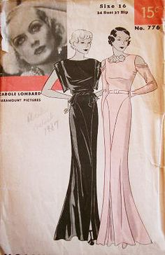 Hollywood 776 | 1930s Evening Dress featuring Carole Lombard
