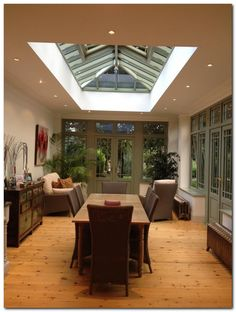 Ideas for conservatory kitchens glass extension conservatory kitchen # Glass extension Glass Extension, Roof Extension, Extension Ideas, Style At Home, Orangerie Extension, Conservatory Kitchen, Kitchen Diner Extension, Roof Lantern, Roof Light