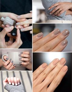 Neutral nails… Color very subdued