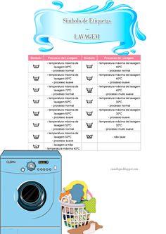 Casa e Fogão: Símbolo de etiqueta de roupas: Lavagem