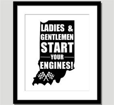 Ladies and Gentlemen Start Your Engines  by CoCoStineDesigns, $15.00