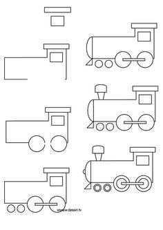 drawing locomotive - Simple Drawing For Toddlers