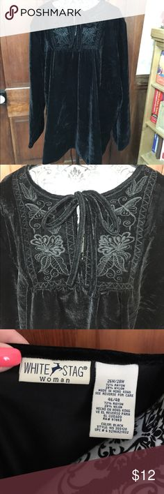 Black velour type top No rips or stains White Stag Tops Blouses