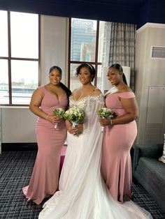 This dress is literally perfect. It runs true to size and it flattered each of my bridesmaids body type. My MOHs are in dusty rose and the bridesmaids are in burgundy.