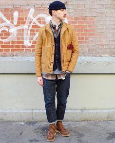 "Reposting @craftedparis: ... ""Hi workers, the cold snap is over ...  Captain Beanie : @sacrebleu_ocean Cooper Jacket : @normanrussell Evasion Scarf : @bnhmm Gloves : @kytone.tm Magazine Vest #redwing #myredwings #redwingshoes #redwingboots #layeringoftheday #boots #indigo #raw #rawdenim #styleofheday #denimporn #selvedge #selvage #navy #denim #denimhead #denimaddict #jeans #heritage #workwear #ootd #dailylook #paris #look #style #menswear #mensstyle #fashion #menfashion"""