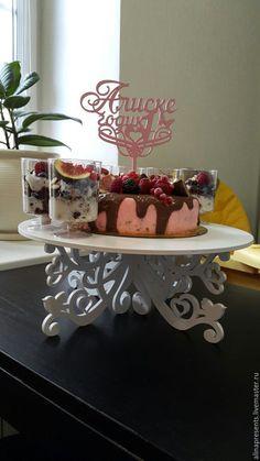 Купить тортовница - разноцветный, тортовница, подставка под торт, свадебная тортовница, декор торта