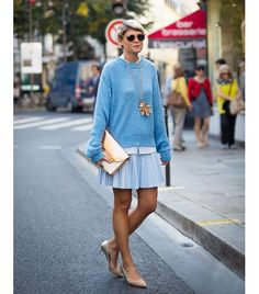 She's always so perfect... @Who What Wear - Keep it simple and go for a monochromatic outfit.  Image via Style du Monde