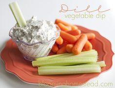Yummy dill dip on bloominghomestead.com