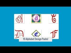 Amazing Alphabets Embroidery Designs - http://www.embroidery2all.com/amazing-alphabets-embroidery-designs/