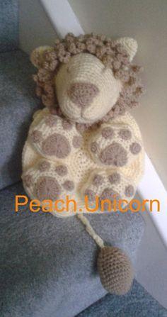 Kids Bag Leo the Lion Backpack Crochet pattern, suitable for a toddler + , suitable for a crochet beginner/newbie by PeachUnicornCrochet, £1.99