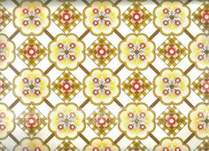 Pomme de Jour — Vintage 70s Yellow Geometric Wallpaper, price is per metre
