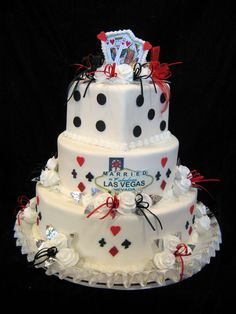 Las Vegas Themed Wedding Cakes | Freed's Bakery | Freed's Bakery Las Vegas