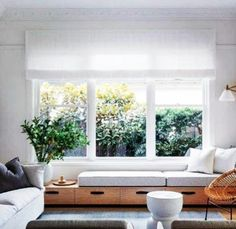 There is no denying that blissful feeling of falling watching the greens from your favourite window. One reason why we are all in for this built in snoozing place. Living Room Windows, Living Room Seating, Living Room Decor, Built In Sofa, Built In Seating, Lounge Seating, Outdoor Lounge, Interior Design Companies, Home Interior Design