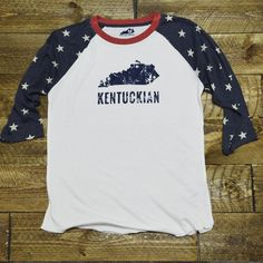 Star Spangled Kentuckian Raglan from Shop Local Kentucky