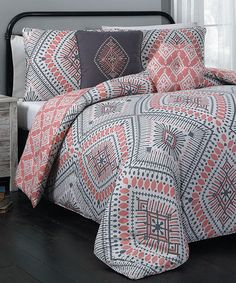 Another great find on #zulily! Coral Jada Five-Piece Comforter Set by Geneva Home Fashions #zulilyfinds