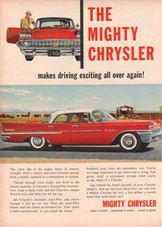 A Chrysler ad from 1958