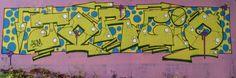Street art à côté des Jardins familiaux de Courcouronnes - Graff en couleur 20160219004