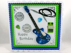 Greeting Card, Grußkarte, E-Gitarre, Musik, music