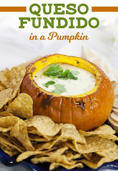 Give classic queso fundido a fall twist by serving it in a pumpkin ...