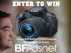 Canon EOS Rebel T5 DSLR Camera w/ 18-55mm IS II Lens giveaway