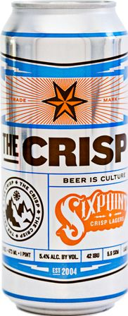 I can haz? - The original Sehr Crisp from Sixpoint.  Brewed with noble hops for indelible sehr crisp flavor.