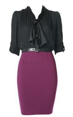 efdc2128b88 Sophisticated with some va-va-voom! Wet Look Dress
