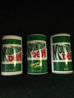 3 variations of the Mountain Dew can radios