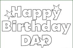 Happy Birthday Daddy Printable Birthday Card Happy Birthday Dad ...