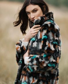 FALL'S NEW MOOD by Hudson's Bay. Faux Fur Coat by Gerard Darel