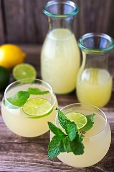 Dominican Style Ginger Ice Tea: A recipe where fresh ginger shines. Made with freshly squeezed lemons, limes and fresh mint leaves and sweetened with honey, this drink is a refreshing non-alcoholic beverage that you can serve every member of your family.