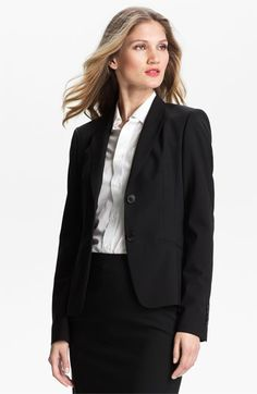 BOSS Black Stretch Wool Jacket available at Nordstrom