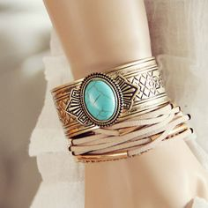 Thunderbird Bracelet, Bohemian Gold Jewelry from Spool 72.   Spool No.72