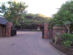 Letaba rest camp entrance gate. African Animals, African Safari, Driveway Gate, Rock Wall, Kruger National Park, Game Reserve, Entrance Gates, My Land, Wild Life