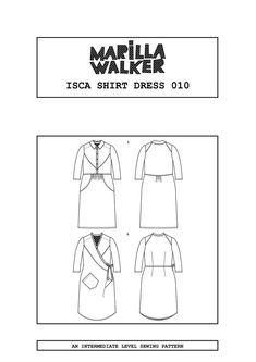 PDF Isca shirt dress sewing pattern | Etsy Clothing Patterns, Sewing Patterns, Diy Clothing, Blouse Patterns, Shirt Dress Pattern, Dress Making Patterns, Pattern Making, Make Your Own Clothes, Pattern Library