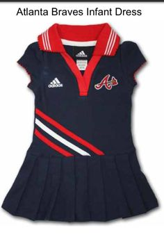 Atlanta Braves... My baby girl will have this adorable dress!