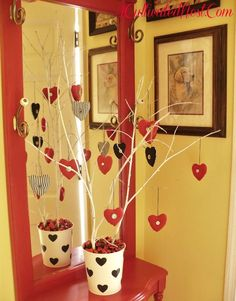 Fabric Heart Valentine Tree