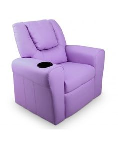 Luxury Kids Recliner Sofa Children Lounge Chair Padded Leather Armchair Purple for sale online