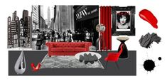 """""""City life"""" by lillusz on Polyvore featuring interior, interiors, interior design, home, home decor, interior decorating, Inspire Q, Waverly, Linda Horn and Steve Madden"""