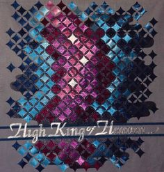 High King of Heaven, cathedral windows quilt, by Lynne Farrow