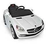 #4: Mercedes-Benz SLK Kids 6v Electric Ride On Toy Car w/ Parent Remote Control - White