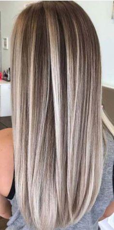 Straight Hair Highlights, Brown Hair With Blonde Highlights, New Hair, Straight Hairstyles, Hair And Nails, Makeup Tips, Hair Ideas, Hair Color, Hair Beauty