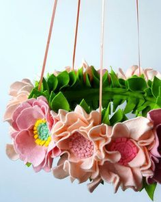 Close up of my felt flower mobile  Pink love  #floralmobile #feltflowermobile #feltflowerwreath #flowerwreath #wreath #pinkwreath #chandelier #pinkflowers #dspink #dscolor #babymobile #nurseryideas #pink #homedecoration #photooftheday #igdaily #fashion #beautiful #inbloom #spring #craftsposure #handmade #feltflorist #feltflowers #mellsvashop #craftspire #makersvillage #shoppingetsy #etsyshop