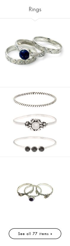 """Rings"" by kerstinxx ❤ liked on Polyvore featuring jewelry, rings, lapis lazuli jewelry, stacking rings jewelry, stackable engraved rings, lapis lazuli ring, engraved jewellery, beading jewelry, stackable rings and accessorize jewelry"