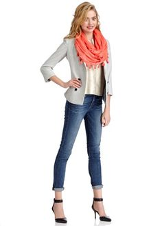 Tassel Infinity Scarf in coral from Sole Society