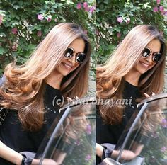 Hair goals!!  Deepika Padukone spotted outside a hair salon in Mumbai today.