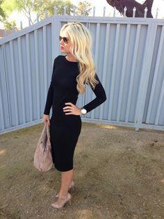 A Midi Black Dress...topshop