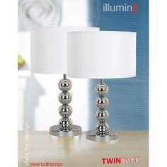 Lámpara Steel Ball Lamps de diseño con muy buenos acabados. Incluye 2 lámparas.