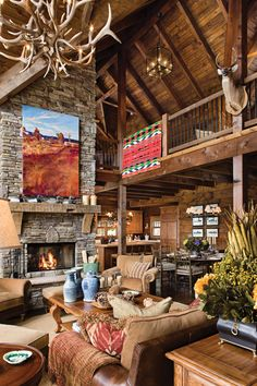 Designing & Decorating Your Great Room | News | Log Cabin Homes