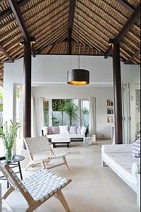 White corridor. White Villa at Lodtunduh Ubud